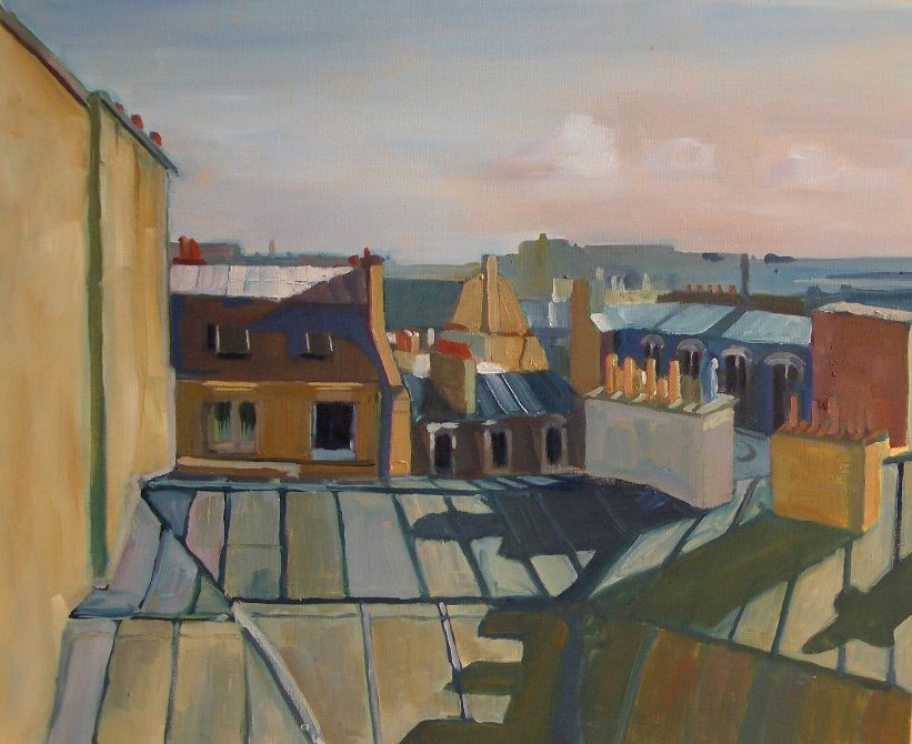 ROOFTOPS FROM STUDIO ©Felice Panagrosso Oil on Canvas 20 x 24 cm