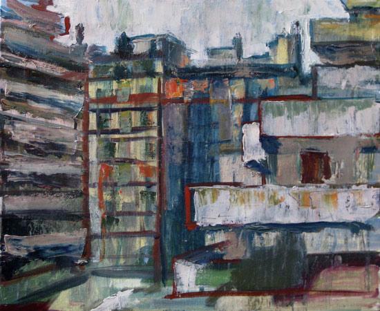 Rue Picini ©2006 Felice Panagrosso Oil on Canvas 15 x 18 cm