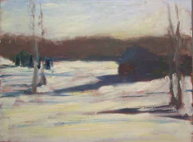WINTER Oil on Panel 8 x 10 inches