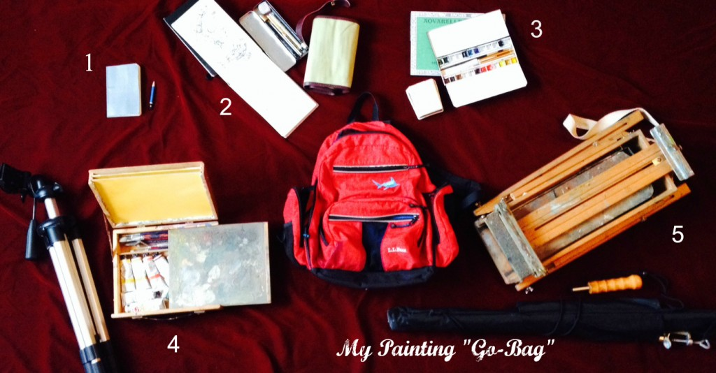 painting go bag