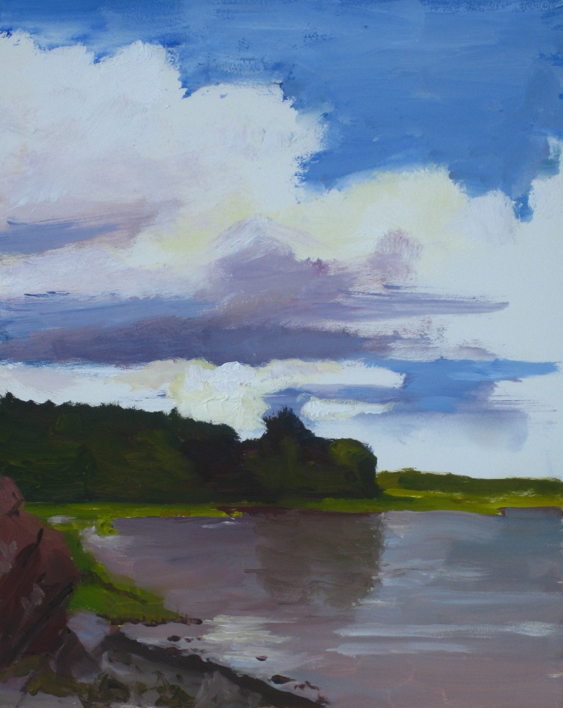 MAQUOIT BAY II©2014 Felice PanagrossoOil on Panel10 x 8 inches