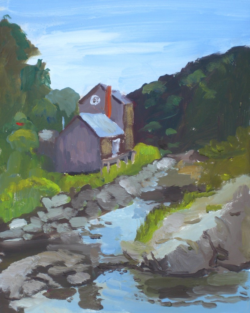 HOUSE IN MAINE©2014 Felice PanagrossoOil on Canvas10 x 8 inches