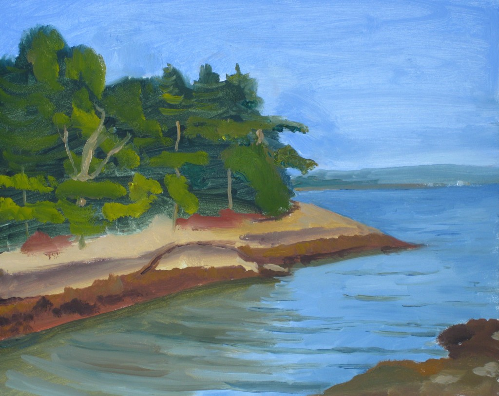 WOLFE'S NECK STATE PARK©2014 Felice PanagrossoOil on Panel8 x 10 inches