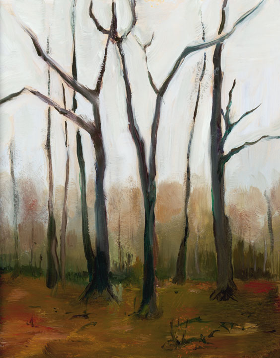 FORET MARLEY EN HIVER©2010 Felice PanagrossoOil on Panel12 x 8 inches
