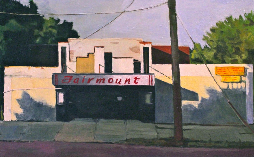 FAIRMOUNT THEATER II©2014 Felice PanagrossoOil on Canvas<br15 x 24 inches