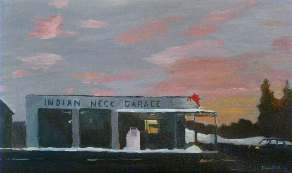 INDIAN NECK GARAGE©2016 Felice PanagrossoOil on Canvas33 x 55 centimeters