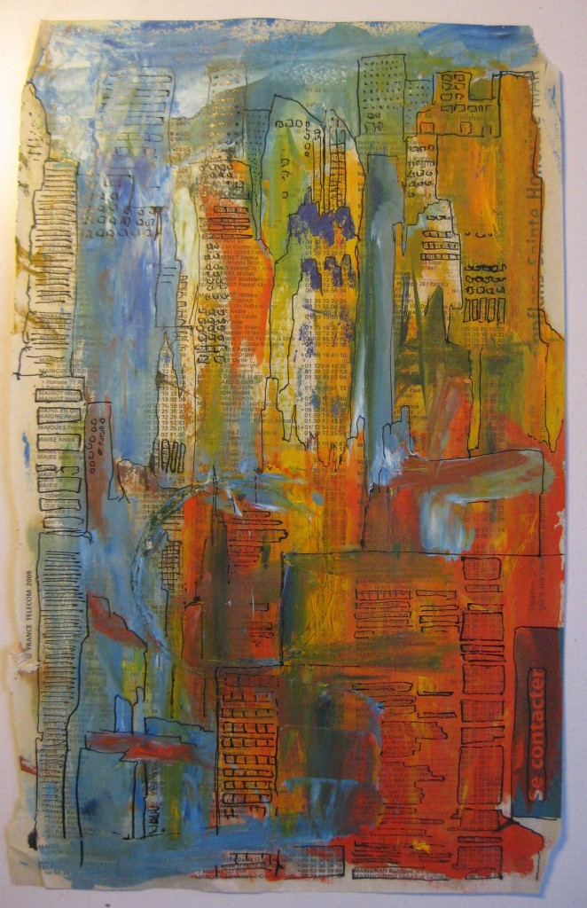 WHERE I'M CALLING FROM©2012 Felice PanagrossoMixed Media on Phone Book Page10.5 x 6.5 inches
